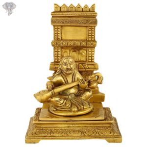 """Photo of Raghavendra Swamy playing veena in front of the Brundavanam-8""""-Facing Front"""