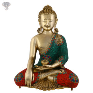 """Photo of Beautiful Handcrafted Buddha Statue-28""""-Facing Front"""