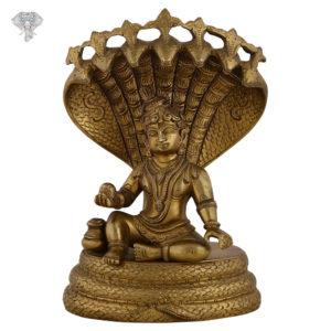 "Photo of Cute Bala Krishna with 5-headed snake above head-7""-Facing-Front"